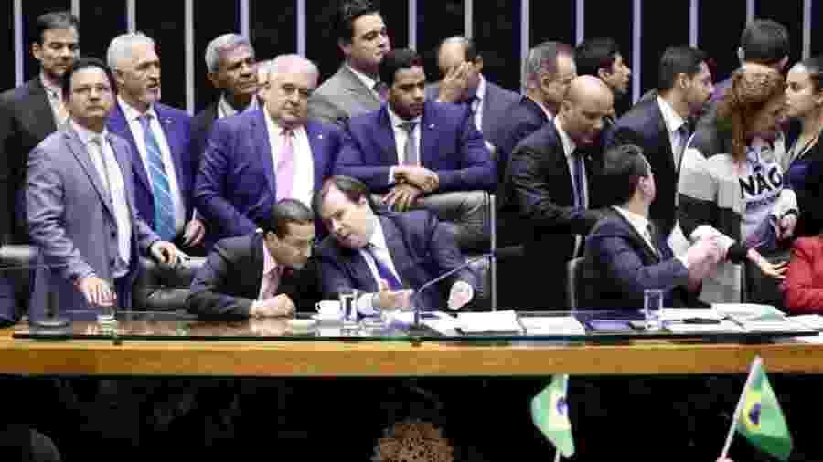 10.jul.2019 - Mesa diretora da Câmara durante votação da reforma da Previdência em primeiro turno - Luís Macedo/Agência Câmara