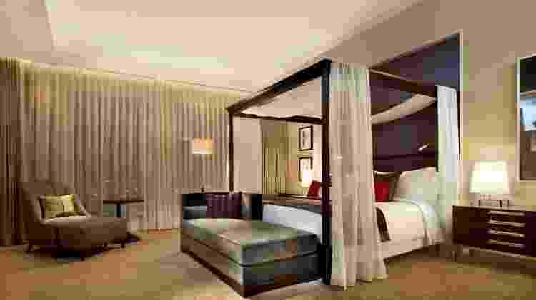 Uma das suítes do hotel The St. Regis Osaka, onde Bolsonaro ficou hospedado. - Divulgação