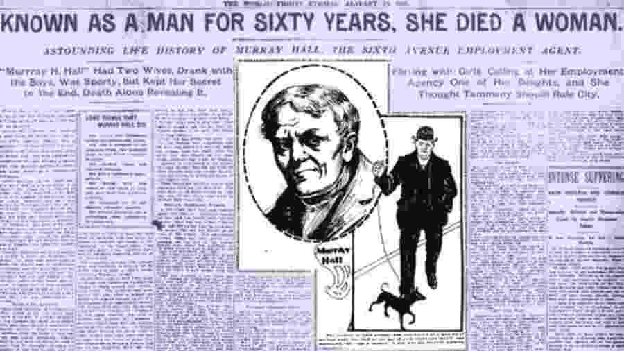 Um artigo do Evening World de 18 de janeiro de 1901 apresenta a história de Murray Hall - Library of Congress
