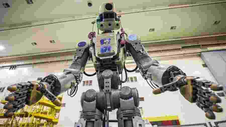 Fedor fez história como o primeiro robô enviado pela Rússia ao espaço ? o problema é que ele não tinha muito o que fazer por lá - EPA