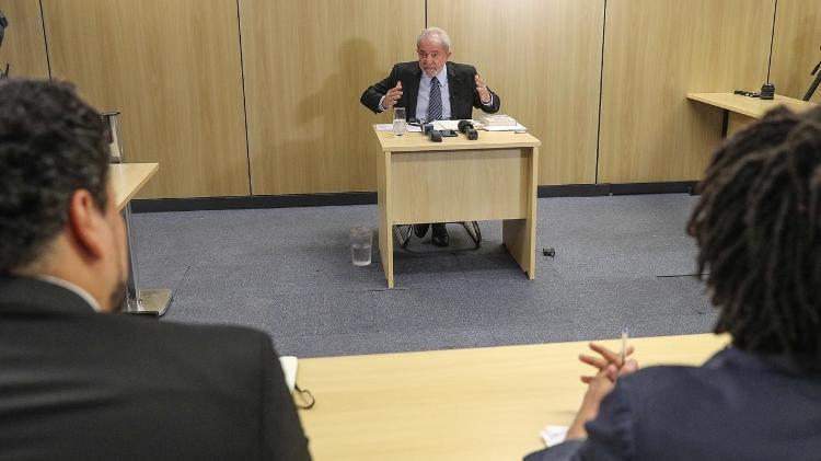 16.out.2019 - Lula na carceragem da PF: ele tem direito a progredir ao semiaberto por ter cumprido um sexto da pena - Ricardo Stuckert/Instituto Lula