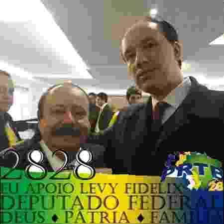 Propaganda eleitoral de Levy Fidelix com Victor Barbuy, presidente da Frente Integralista Brasileira - Reprodução
