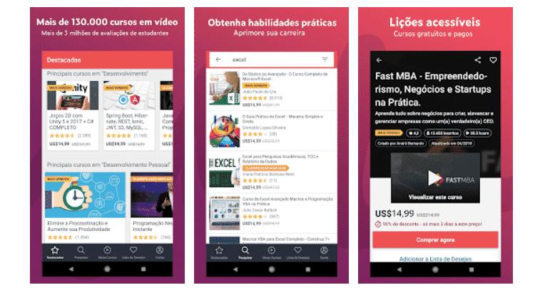 Udemy: aplicativos para aprender ainda mais - Reprodução - Reprodução