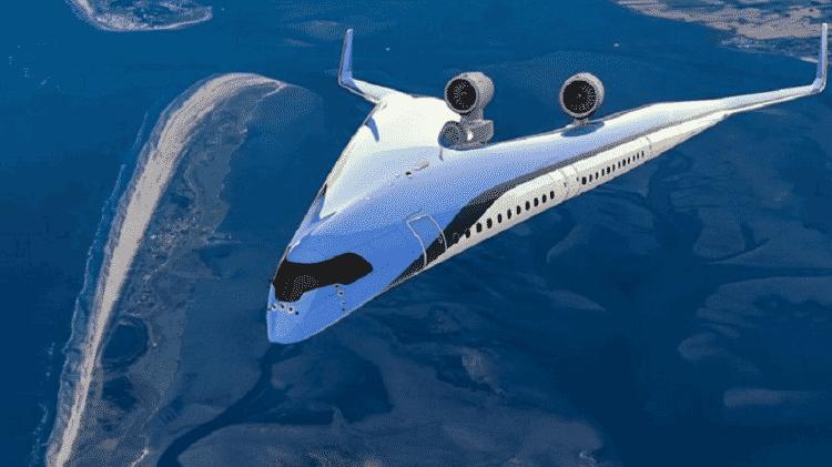 O projeto do Flying-V veria os passageiros transportados nas asas da aeronave - Tu Delft - Tu Delft