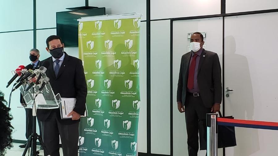 O vice-presidente Hamilton Mourão (PRTB) preside o Conselho Nacional da Amazônia - Eduardo Militão / UOL