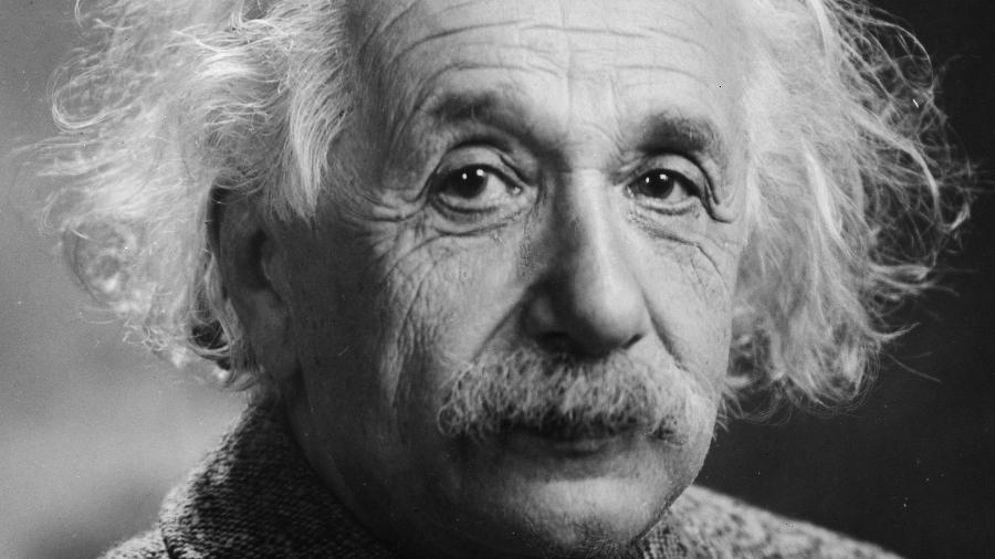 Retrato do físico alemão Albert Einstein, ganhador do Prêmio Nobel em 1921 - Wikimedia Commons