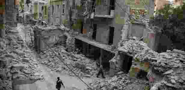 Aleppo, na Síria - KARAM AL-MASRI/AFP - KARAM AL-MASRI/AFP