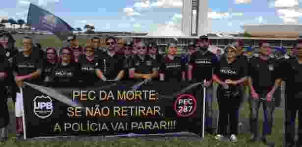 Protesto de sindicatos das policias contra Reforma da Previdência - George Marques/Intercept Brasil - George Marques/Intercept Brasil