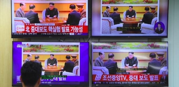 Sul-coreano assiste a programa da TV oficial da Coreia do Norte sobre novo teste nuclear