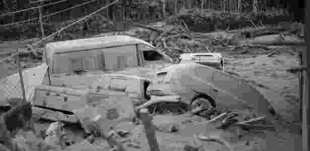Imagens da destruição após a erupção do vulcão na Guatemala - AFP - AFP