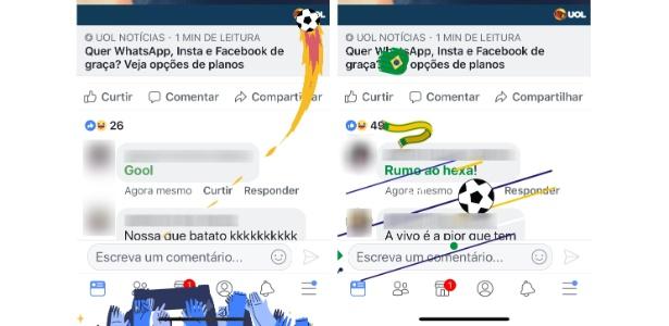 Facebook tem reações especiais para comentários sobre Copa