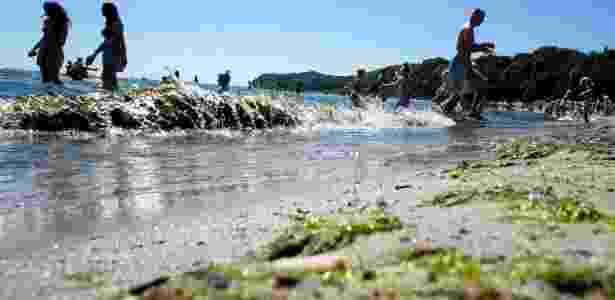 Praia de Gdynia, na Polônia, no Mar Báltico - Lukasz Glowala/Agencja Gazeta/via Reuters