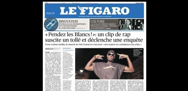 27.set.2018 - O jornal Le Figaro publicou uma reportagem sobre o polêmico clipe na edição desta quinta-feira - Fotomontagem RFI