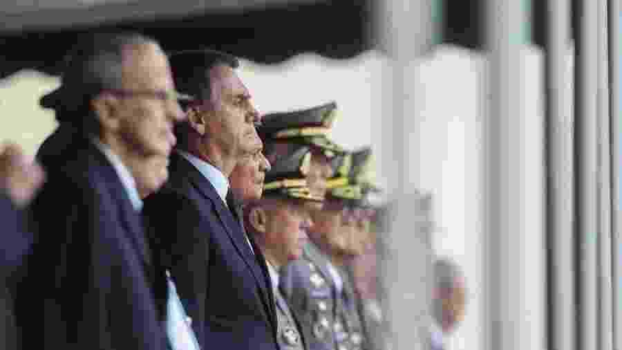 O presidente Jair Bolsonaro durante cerimônia promovida pelas Forças Armadas em 2019 - Equipe de transição/Rafael Carvalho
