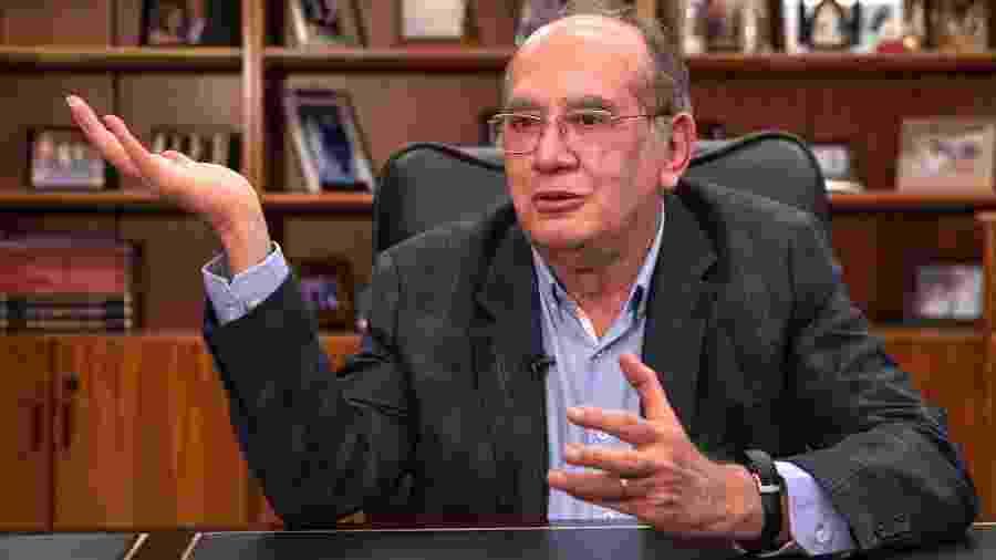 19.jun.2019 - O ministro Gilmar Mendes, do Supremo Tribunal Federal, concede entrevista ao UOL - Kleyton Amorim/UOL