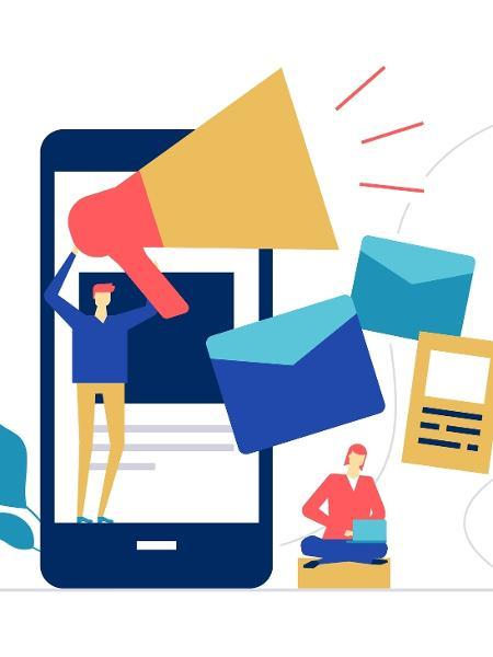 marketing, megafone, comunicação, marketing digital - Getty Images