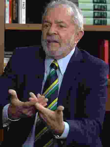 O ex-presidente Luiz Inácio Lula da Silva em entrevista ao UOL - UOL
