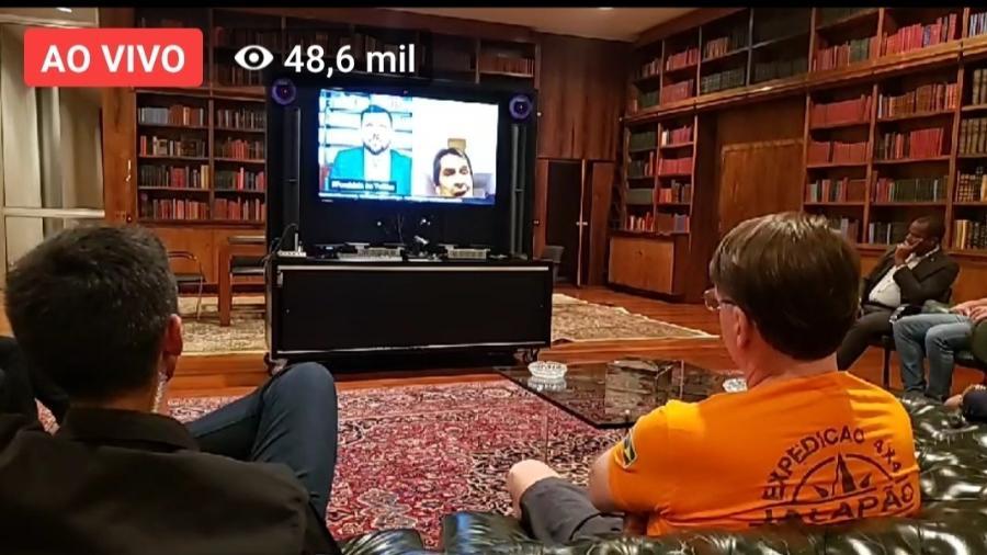 Bolsonaro acompanha live em que Jefferson acusa Maia de golpe - Reprodução/YouTube