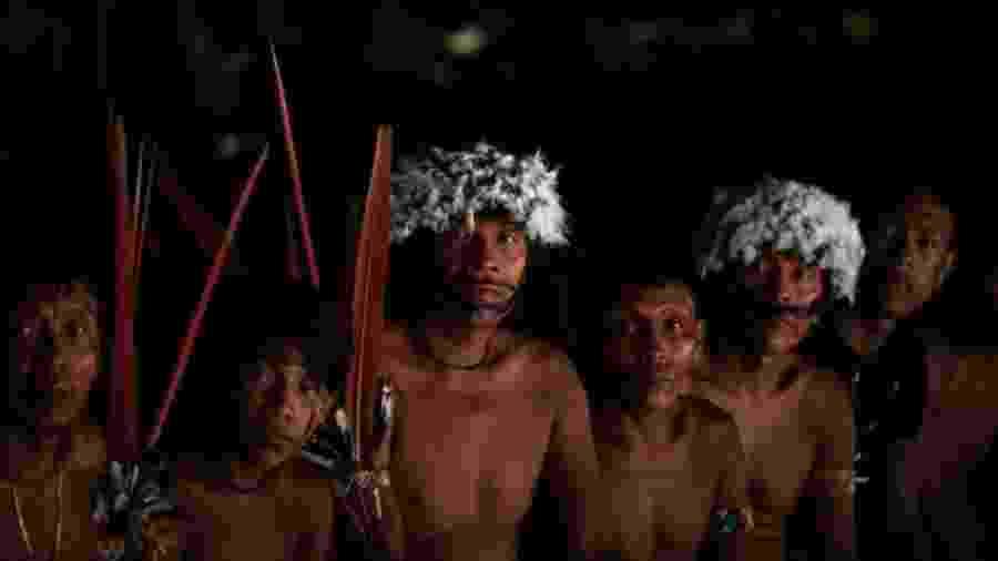 """Lideranças dos povos yanomami e ye""""kwana se reúnem em encontro que debateu a presença de garimpeiros no território, em 2019 - VICTOR MORIYAMA/ISA"""
