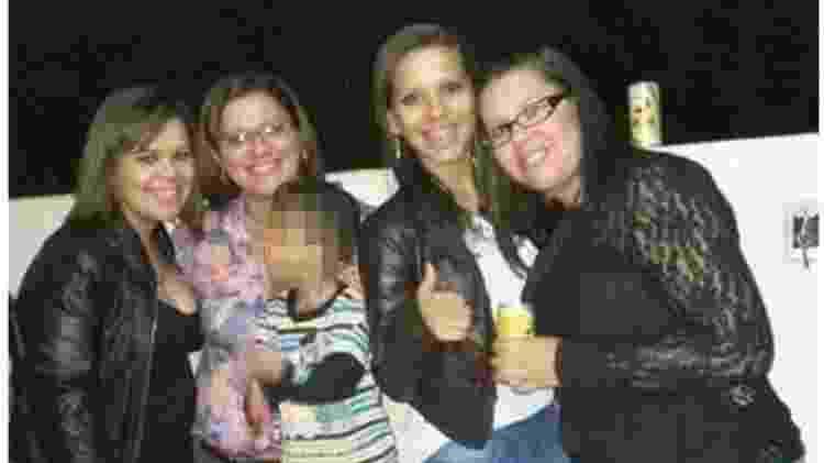 Talytta (na ponta esquerda), Lígia, Samylla e Dalylla: mãe e filhas viviam em Alto Araguaia, no interior de Mato Grosso - Acervo pessoal - Acervo pessoal