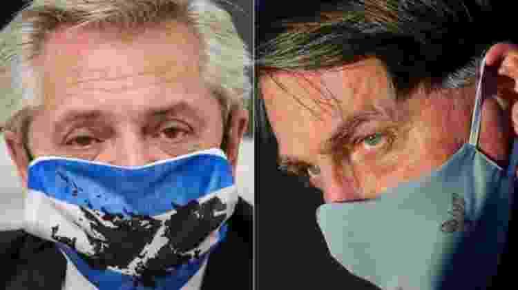 Os presidentes do Brasil (dir.) e da Argentina (esq.) vivem em clima de hostilidade aberta - AFP - AFP