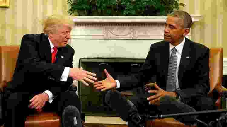 trump e obama somente em bbc - Reuters - Reuters