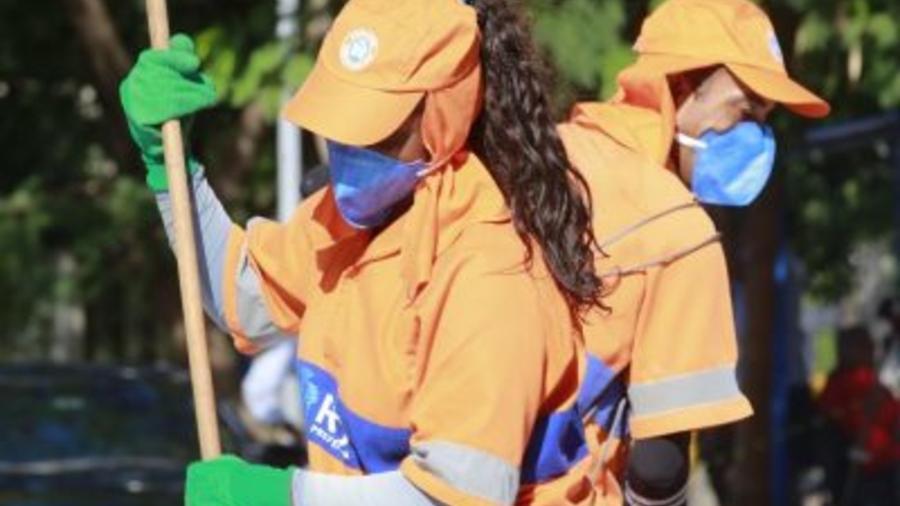 Número foi inferior ao da eleição de 2016, quando 126,9 toneladas de lixo foram recolhidas - Marcos de Paula/Prefeitura do Rio