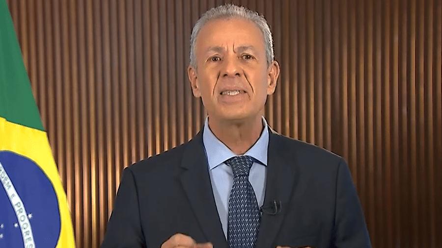 O ministro de Minas e Energia Bento Albuquerque em pronunciamento - Reprodução