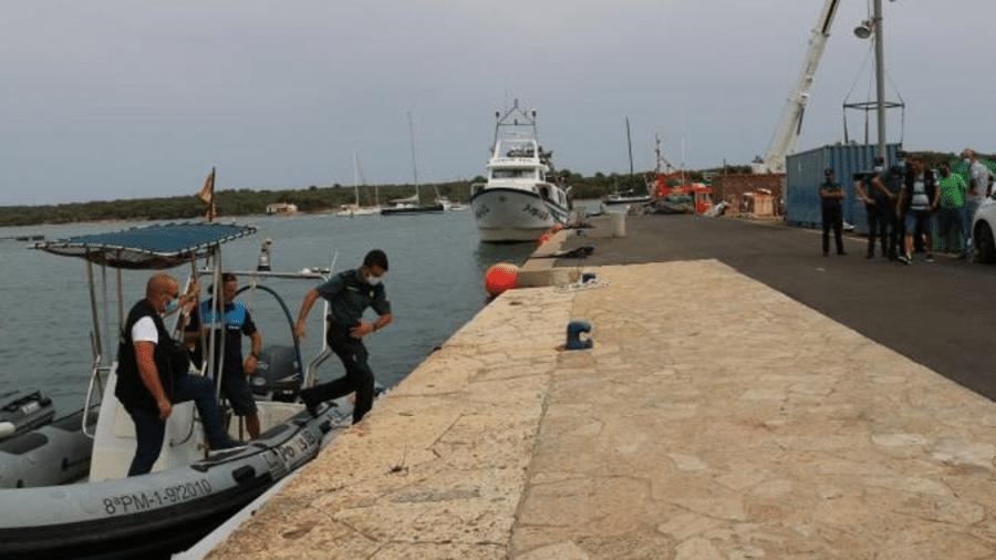 Equipes da Guarda Civil local tentaram resgatar as vítimas - Reprodução/Twitter Prefeitura de Felanitx