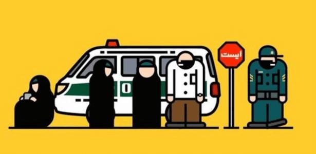 APP contra a polícia da moralidade no Irã