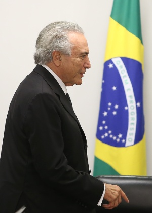 O presidente interino, Michel Temer