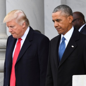 Trump e Obama, durante a posse do atual presidente dos Estados Unidos