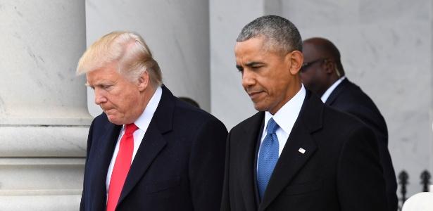 Donald Trump brinca com Obama em meme - REUTERS/Jack Gruber