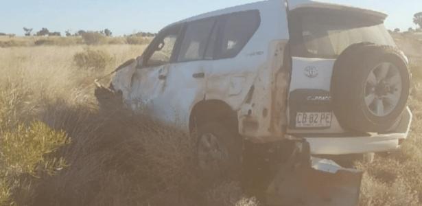 Acidente em área remota da Austrália deixou um jovem em apuros