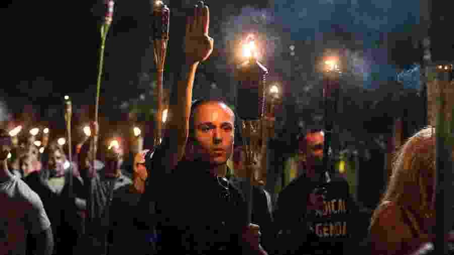 11.agosto.2017 - Manifestação da extrema-direita nos Estados Unidos - Edu Bayer/NYT