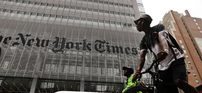 """Sede do """"New York Times"""" em Manhattan - Spencer Platt/Getty Images/AFP"""