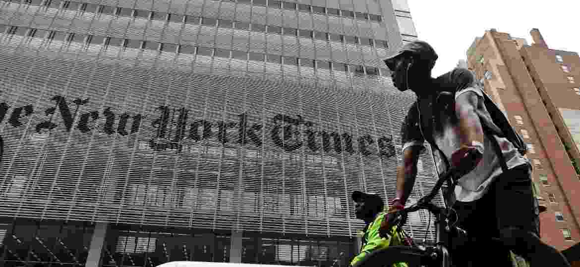 "Sede do ""New York Times"" em Manhattan - Spencer Platt/Getty Images/AFP"