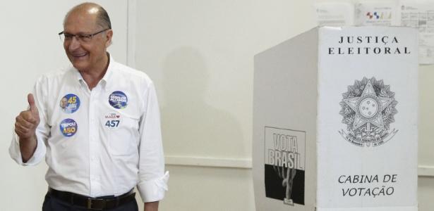 7.out.2018 - Geraldo Alckmin vota em SP