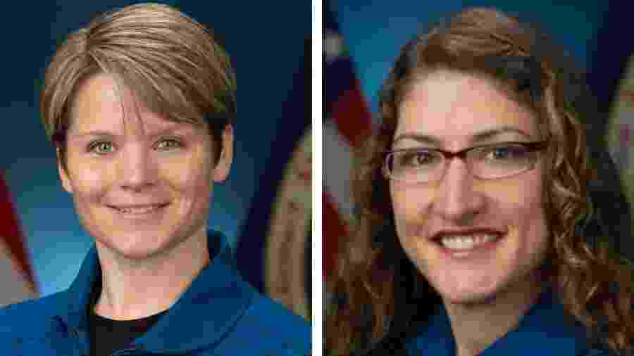 Christina Koch e Anne McClain estarão juntas na ISS - Nasa