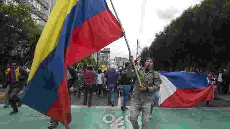 Grupos indígenas pedem saída do presidente equatoriano, Lenín Moreno - Santiago Armasua/Xinhua