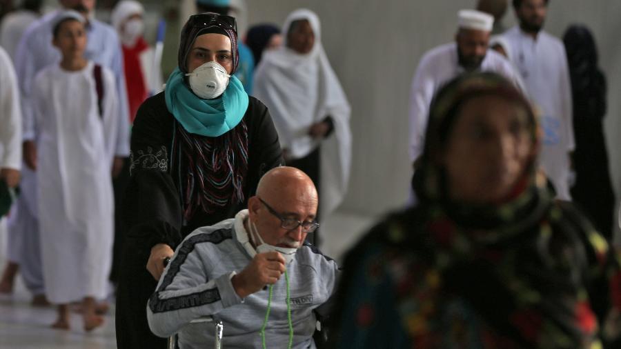 Apenas mil fiéis poderão participar da peregrinação em 2020 - Abdel Ghani Bashir / AFP