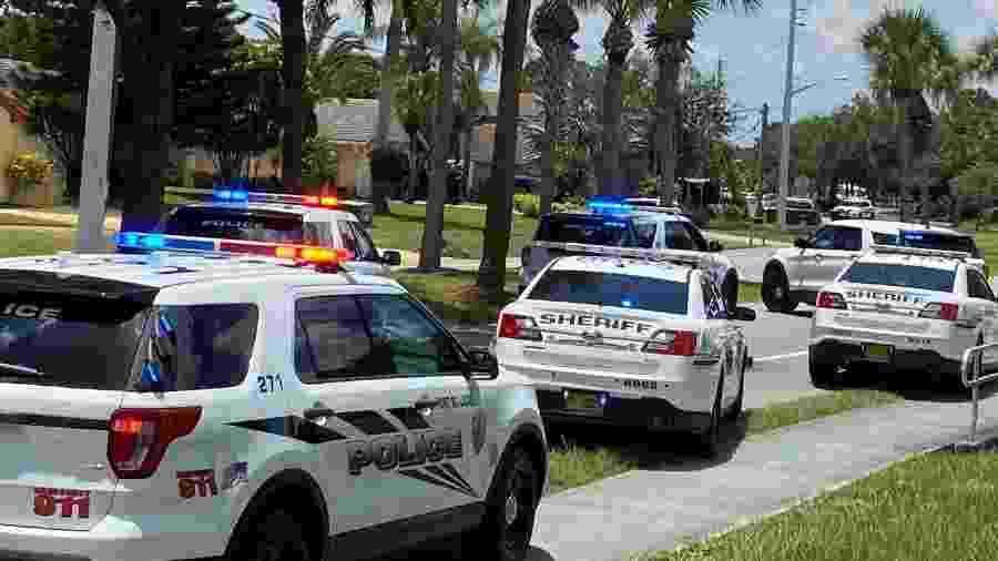 Homem de 82 anos matou um vizinho e sua filha de 11 anos após briga por cachorro na Flórida (EUA) - Reprodução/Twitter/Port St. Lucie PD