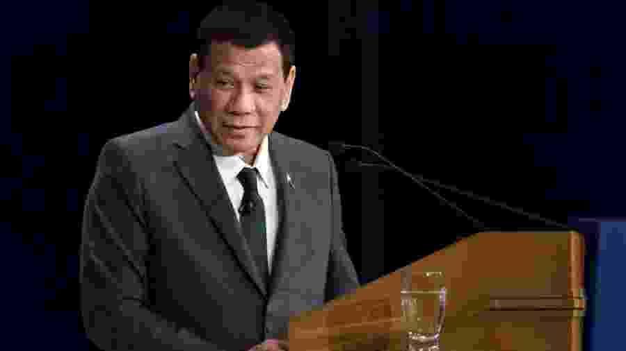 31.mai.2019 - Rodrigo Duterte, presidente das Filipinas, durante evento em Tóquio (Japão) - Tomohiro Ohsumi/Getty Images