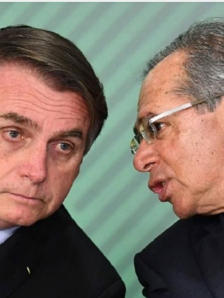 Jair Bolsonaro e Paulo Guedes - Evaristo Sá/AFP/24-05-2019