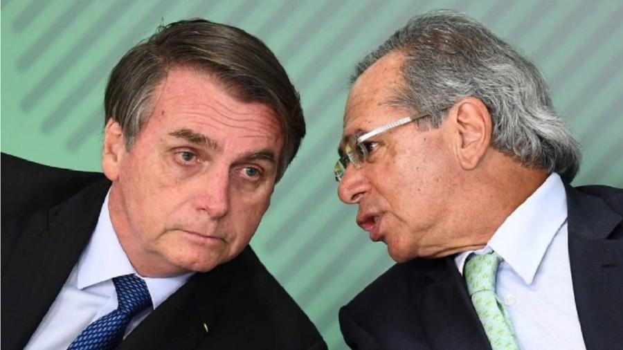 O presidente Jair Bolsonaro e o ministro da Economia, Paulo Guedes, em Brasília - Evaristo Sá/AFP/24-05-2019