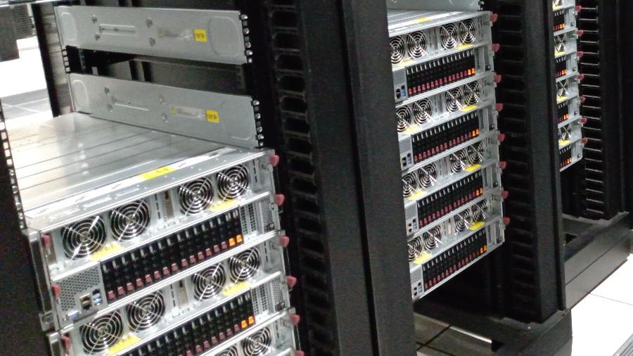 Imagens da montagem do Dragão, o novo supercomputador da Petrobras - Divulgação