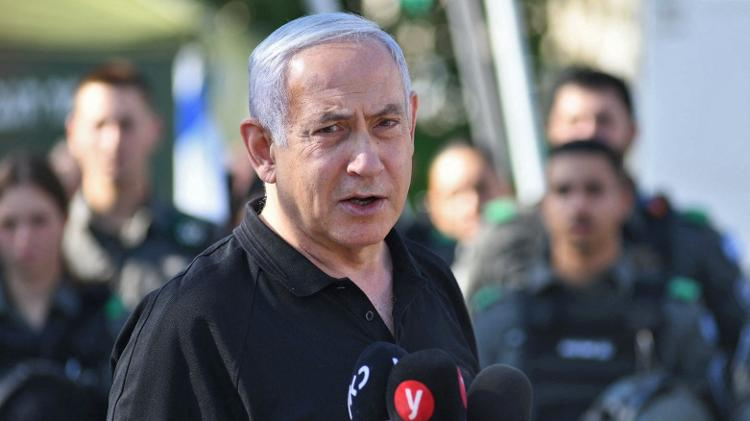 O ex-primeiro-ministro de Israel, Benjamin Netanyahu - Yuval Chen/Pool/AFP - Yuval Chen/Pool/AFP
