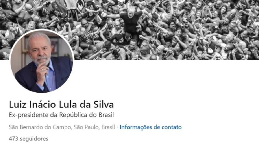 Lula atingiu cerca de 500 seguidores cerca de uma hora depois de iniciar a divulgação do perfil no LinkedIn - Reprodução/LinkedIn