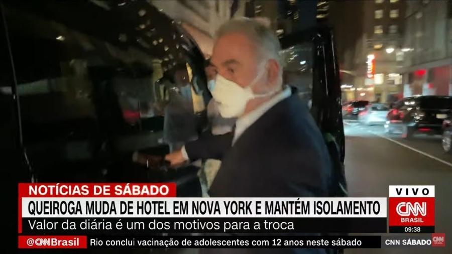 Ministro da Saúde, Marcelo Queiroga, deixa hotel de luxo onde fazia quarentena em Nova York - Reprodução/CNN