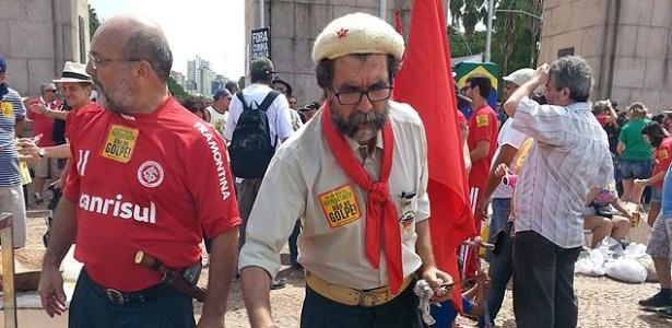 Isolados, atos a favor de Dilma e Lula ocorrem pacificamente - Paula Sperb/Folhapress